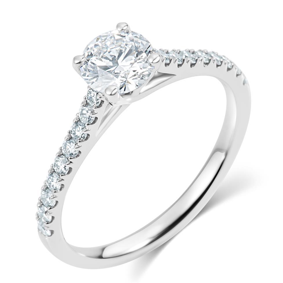 Platinum Diamond Solitaire Engagement Ring 1.00ct Thumbnail Image 0