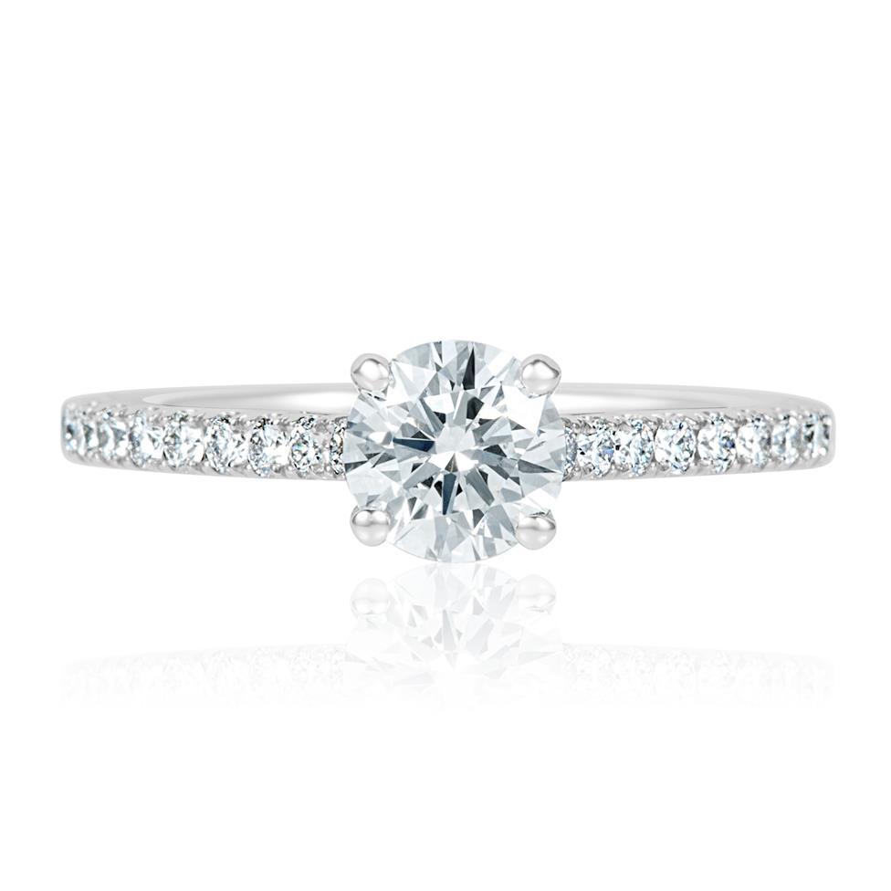 Platinum Diamond Solitaire Engagement Ring 1.00ct Thumbnail Image 1