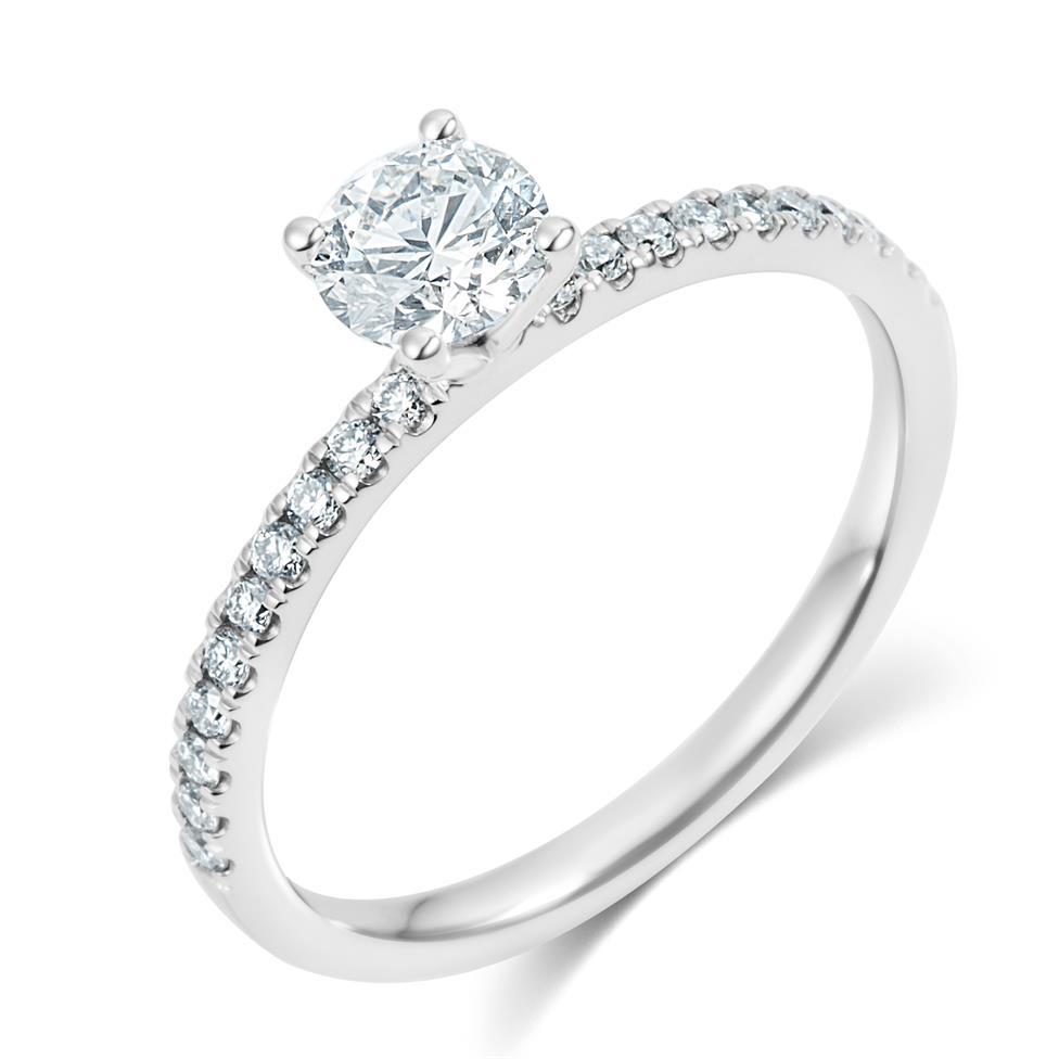 Platinum Diamond Solitaire Engagement Ring 0.70ct Thumbnail Image 0