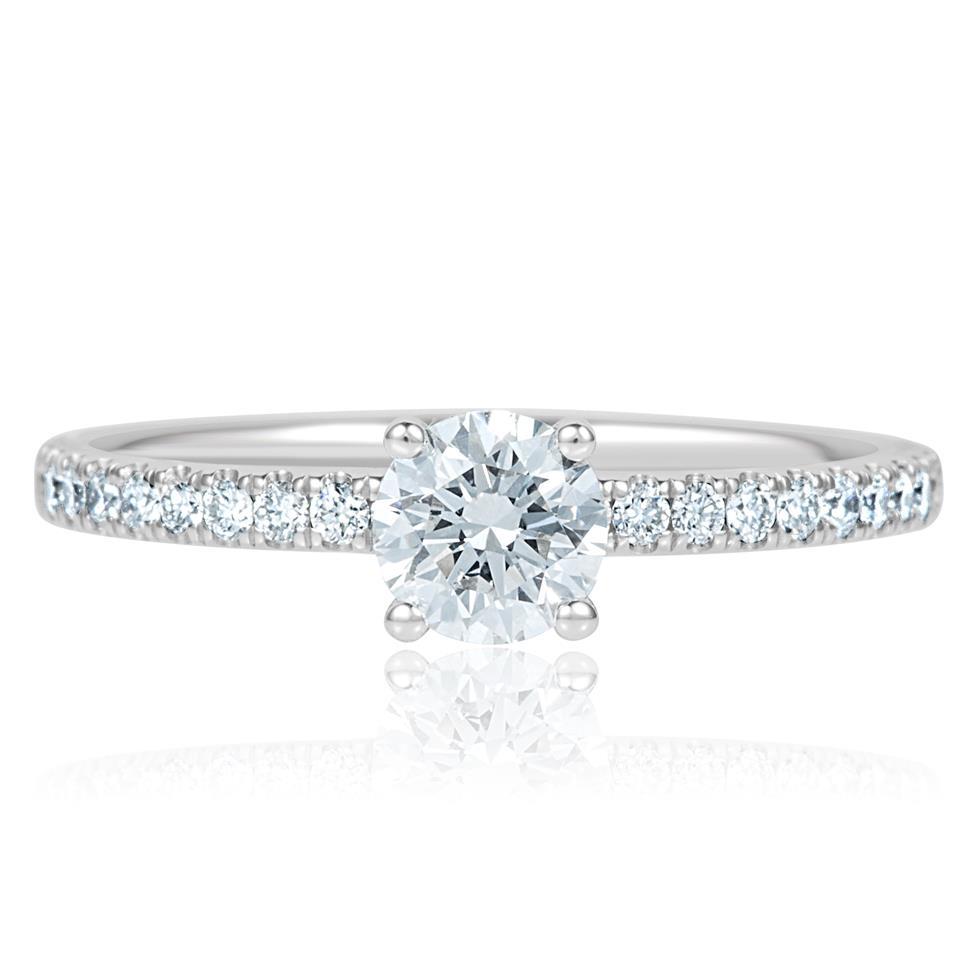 Platinum Diamond Solitaire Engagement Ring 0.70ct Thumbnail Image 1