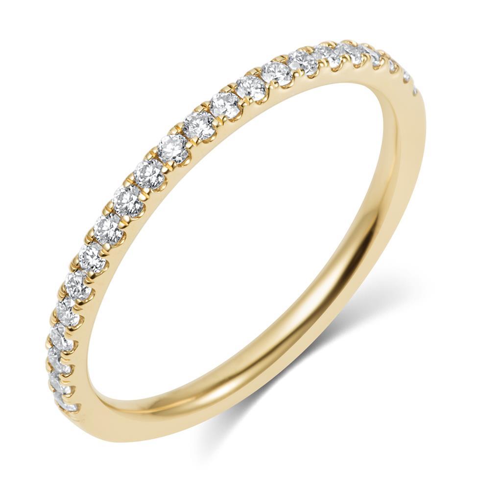 18ct Yellow Gold Diamond Half Eternity Ring 0.25ct Thumbnail Image 0