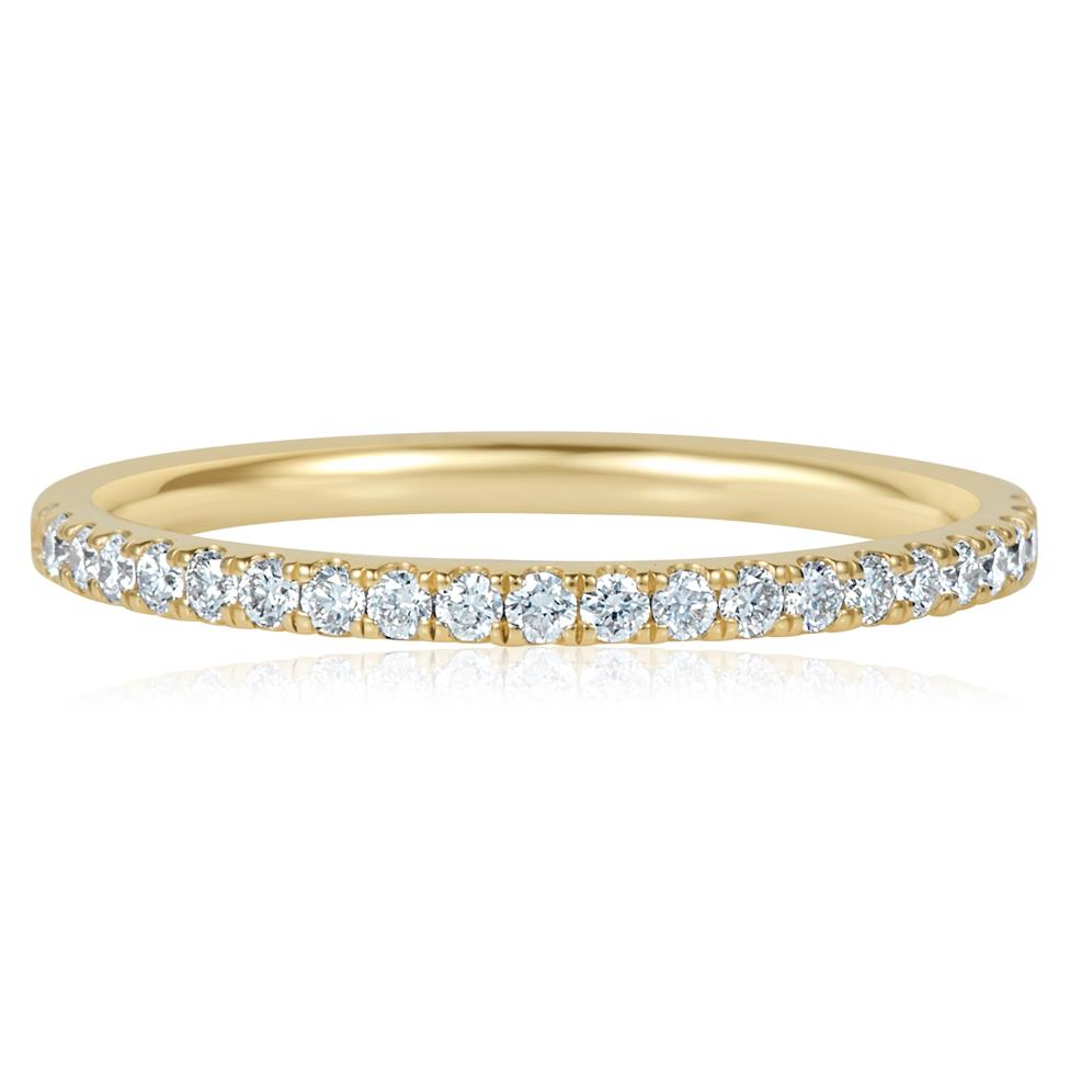 18ct Yellow Gold Diamond Half Eternity Ring 0.25ct Thumbnail Image 1