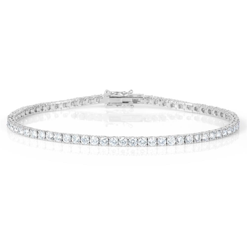 18ct White Gold Diamond Tennis Bracelet 5.10ct Thumbnail Image 0