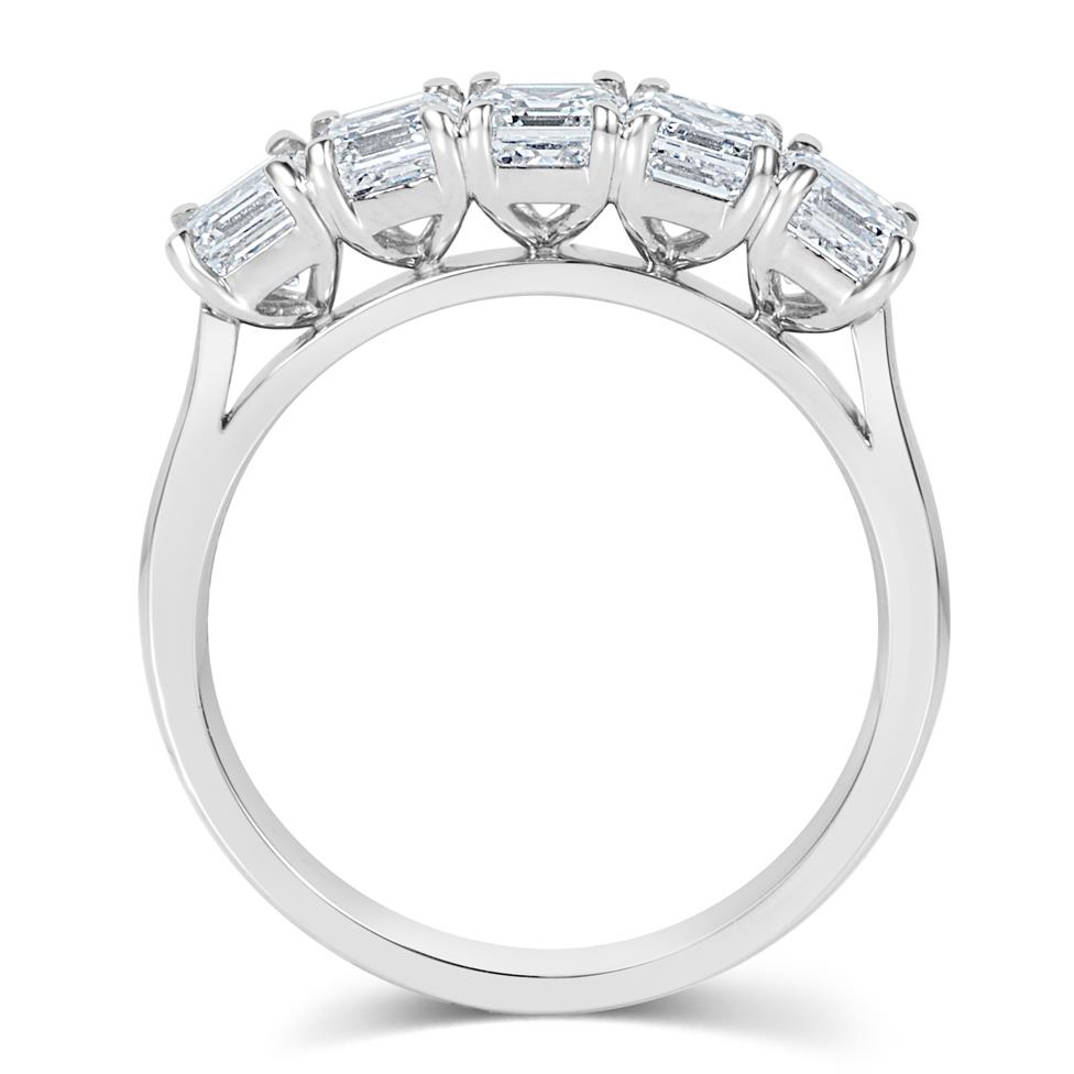 Platinum Asscher Cut Diamond Five Stone Engagement Ring 1.99ct Thumbnail Image 2
