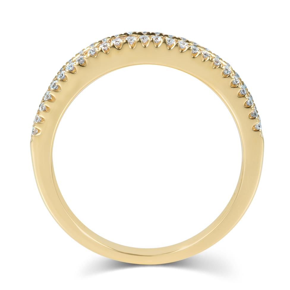 Samba 18ct Yellow Gold Rainbow Sapphire and Diamond Dress Ring Thumbnail Image 2