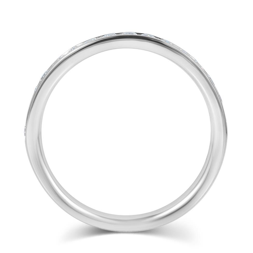 Platinum Diamond Half Eternity Ring 0.35ct Thumbnail Image 2