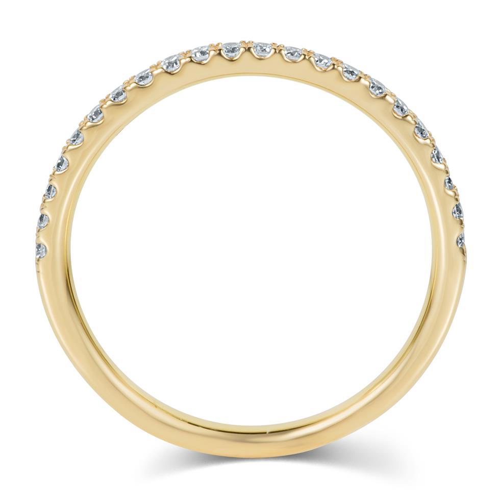 18ct Yellow Gold Diamond Half Eternity Ring 0.25ct Thumbnail Image 2