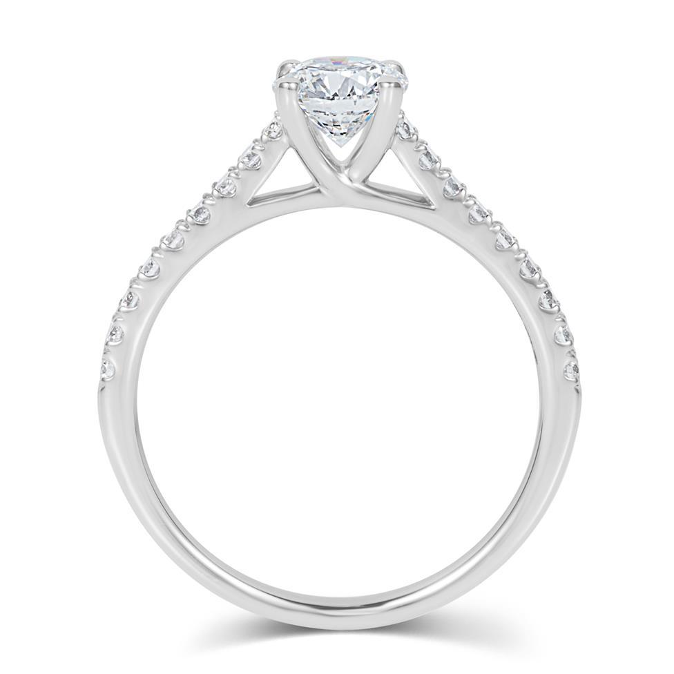 Platinum Diamond Solitaire Engagement Ring 1.00ct Thumbnail Image 2