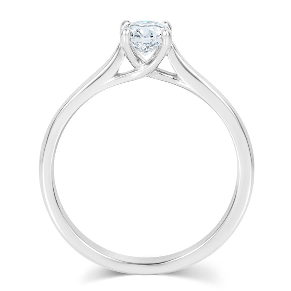 Platinum Diamond Solitaire Engagement Ring 0.35ct Thumbnail Image 2