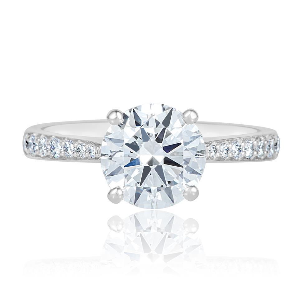Platinum Diamond Solitaire Engagement Ring 1.63ct Thumbnail Image 1
