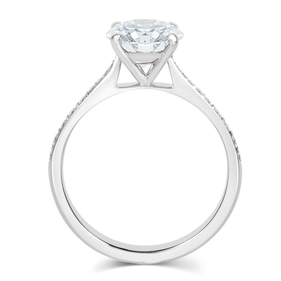Platinum Diamond Solitaire Engagement Ring 1.63ct Thumbnail Image 2