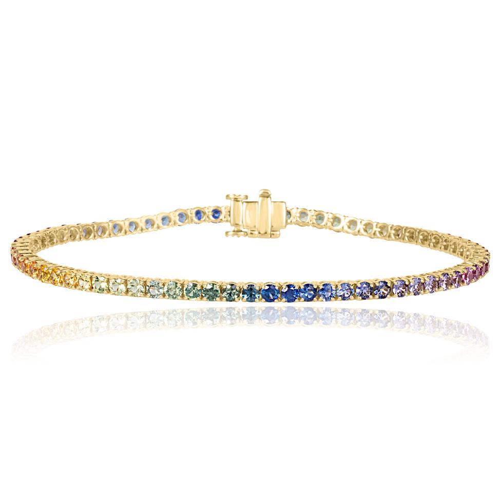 Samba 18ct Yellow Gold Rainbow Sapphire Bracelet Thumbnail Image 0