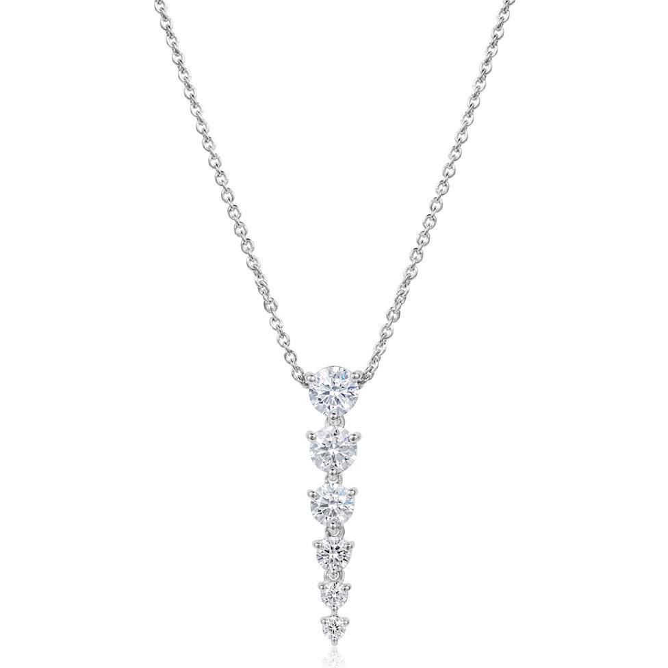18ct White Gold Diamond Necklace 0.75ct Thumbnail Image 0