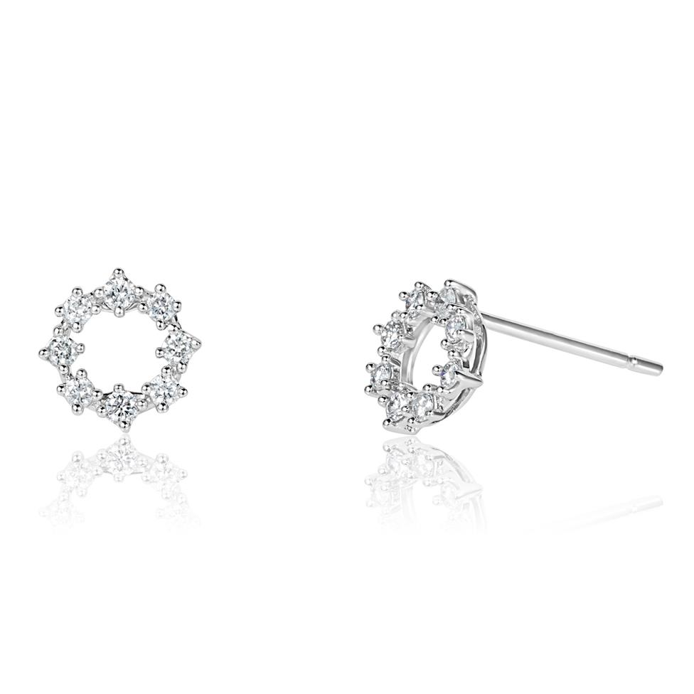 18ct White Gold Diamond Stud Earrings 0.22ct Image 1