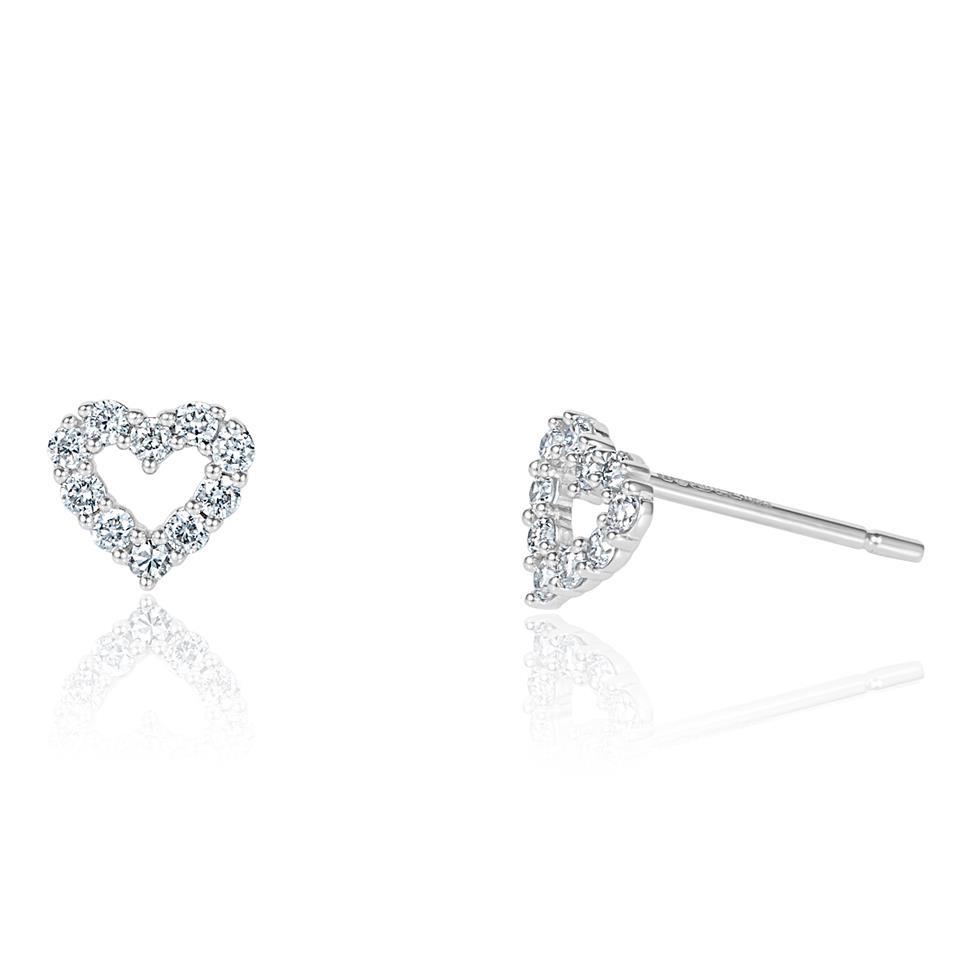 18ct White Gold Diamond Stud Earrings 0.21ct Thumbnail Image 0