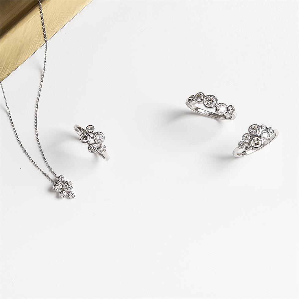 Alchemy 18ct White Gold Diamond Dress Ring 0.85ct Thumbnail Image 3