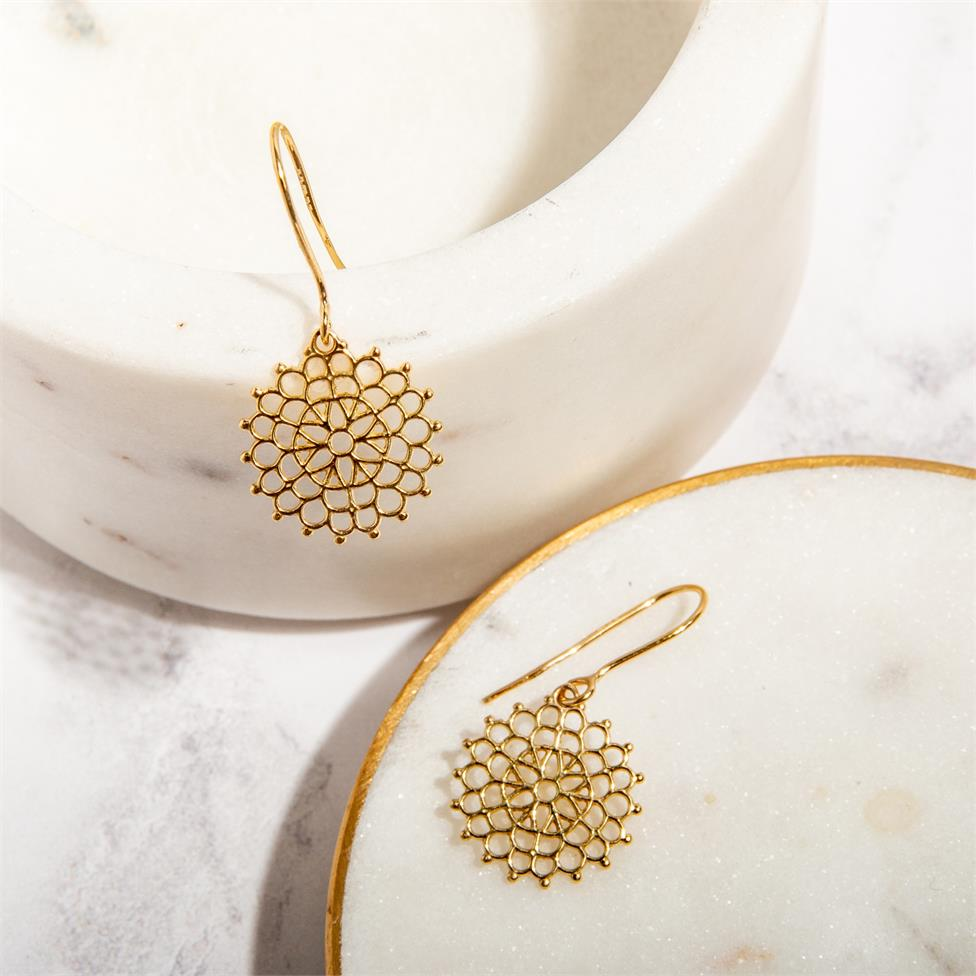 Element 18ct Yellow Gold Drop Earrings Thumbnail Image 2