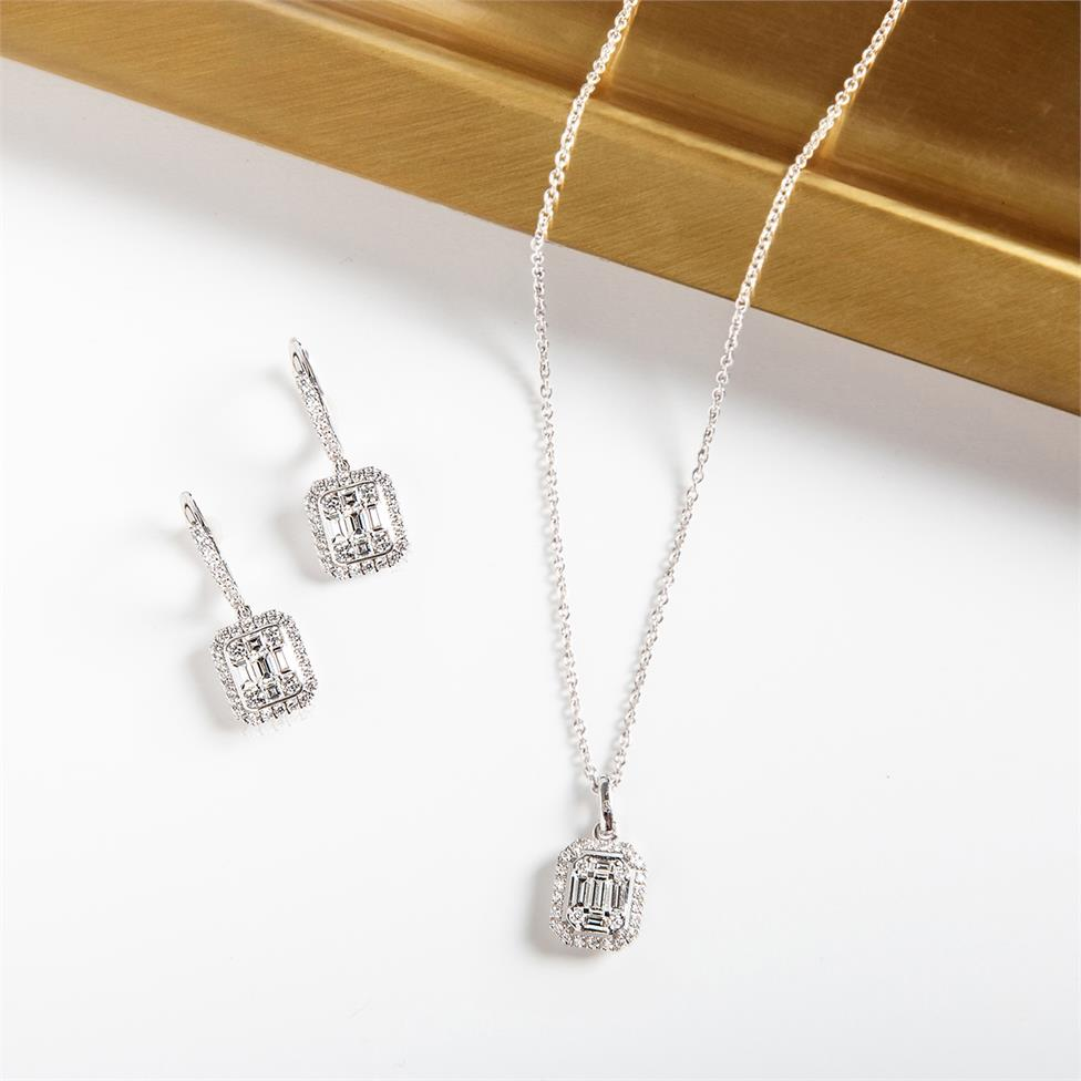 Odyssey 18ct White Gold Diamond Necklace 0.48ct Thumbnail Image 2