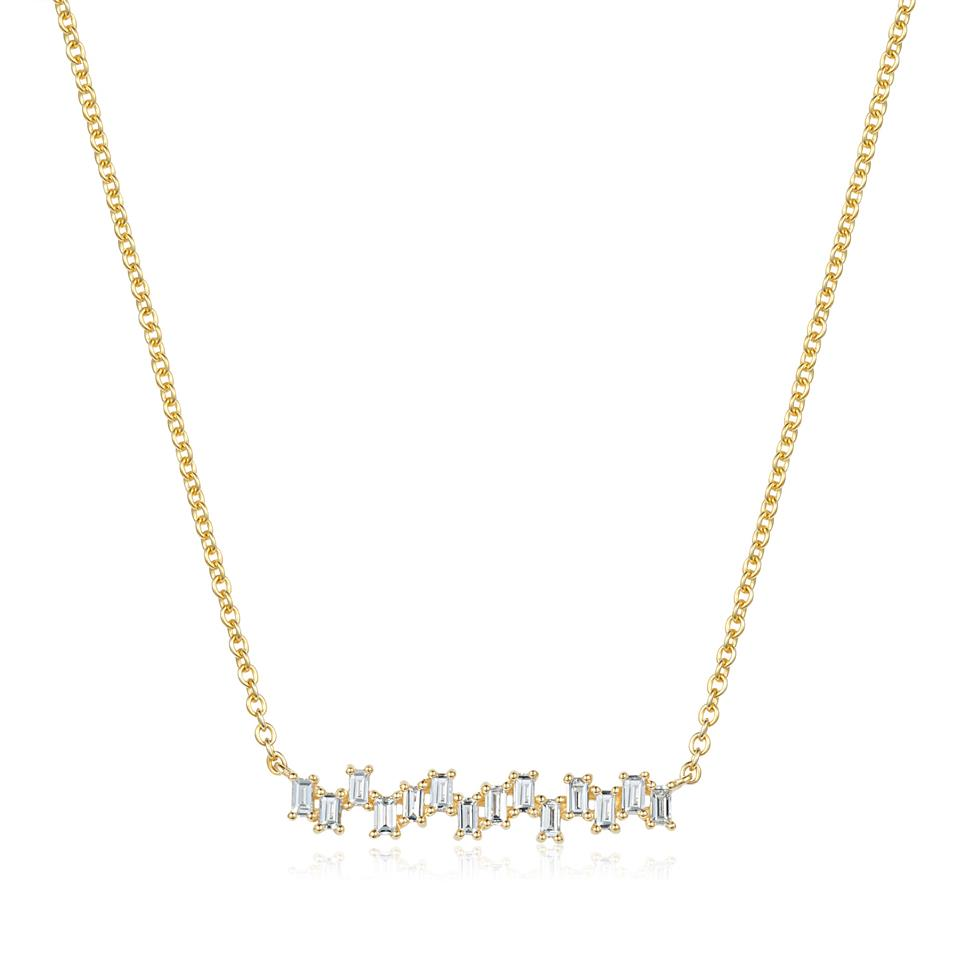 Stardust 18ct Yellow Gold Diamond Necklace 0.25ct Image 1