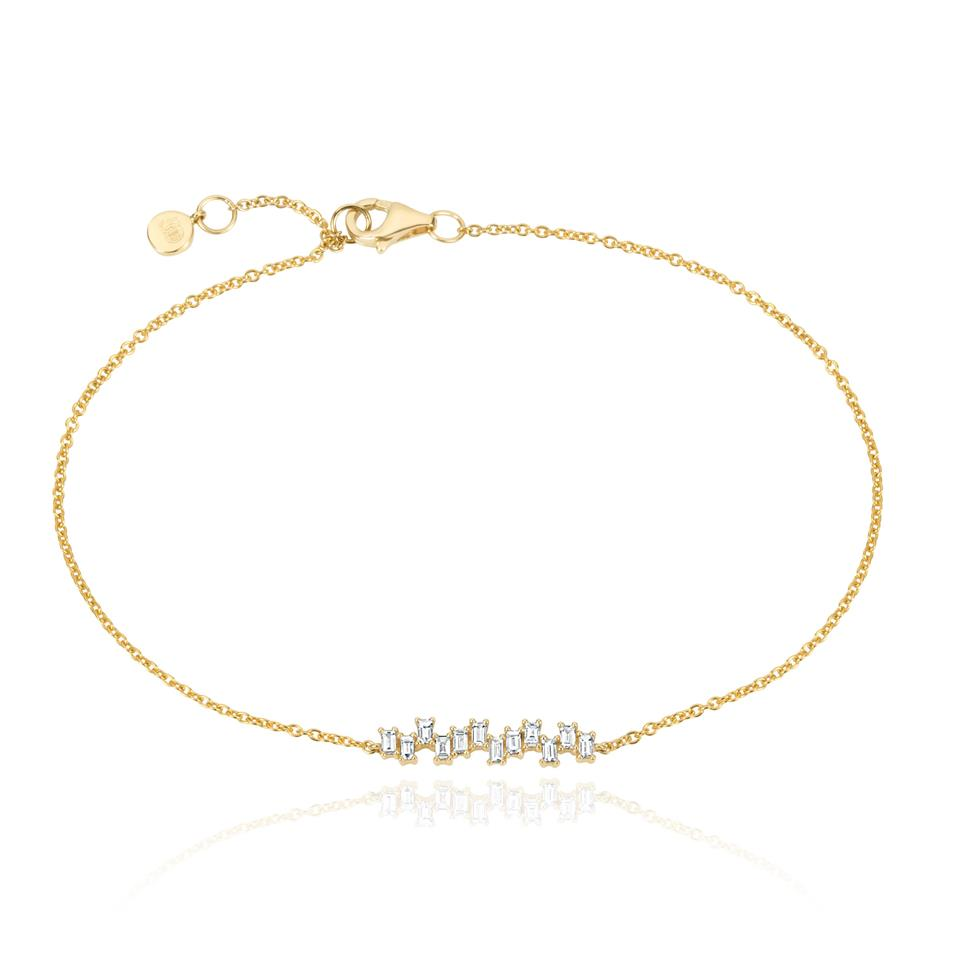 Stardust 18ct Yellow Gold Diamond Bracelet Thumbnail Image 0