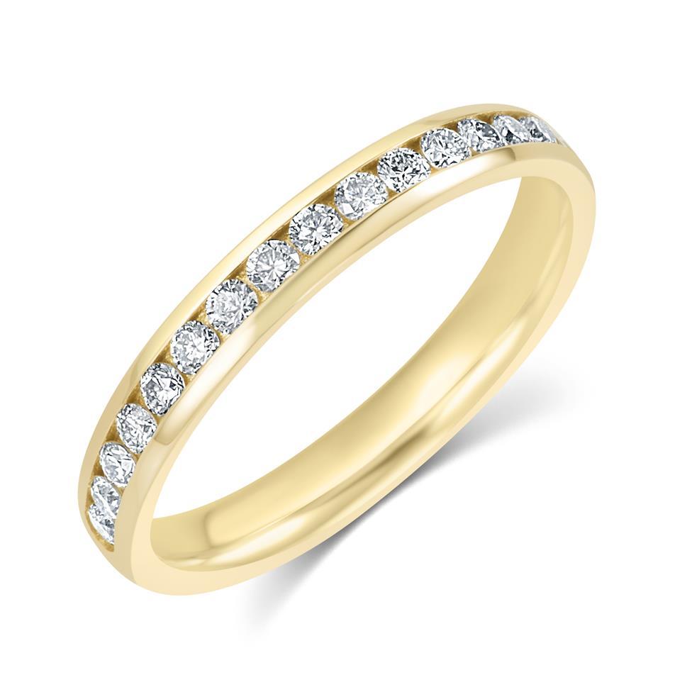18ct Yellow Gold Diamond Half Eternity Ring 0.33ct Thumbnail Image 0