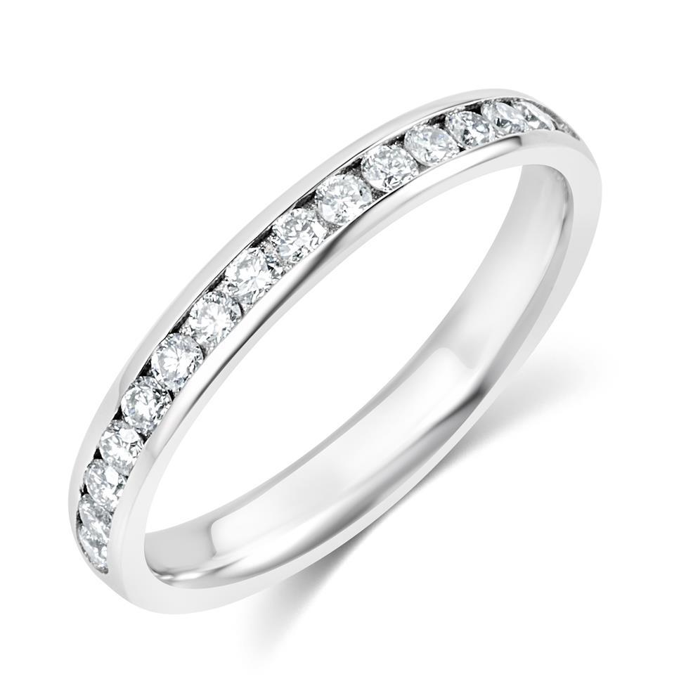 Platinum Diamond Half Eternity Ring 0.22ct Thumbnail Image 0