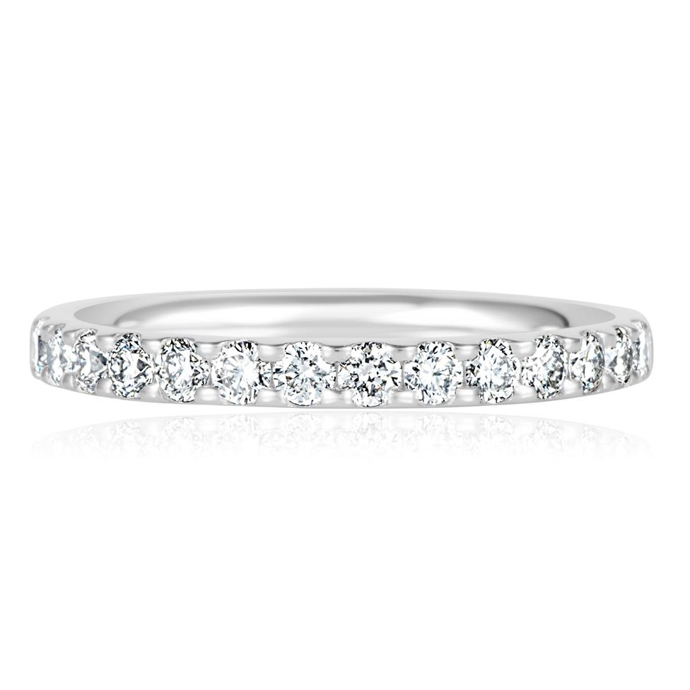 Platinum Diamond Half Eternity Ring 0.50ct Thumbnail Image 3