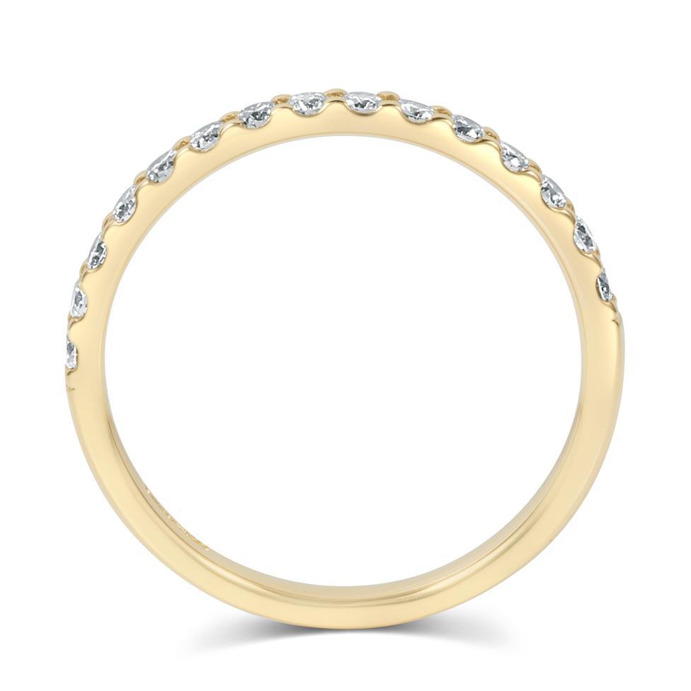 18ct Yellow Gold Diamond Half Eternity Ring 0.33ct Thumbnail Image 3