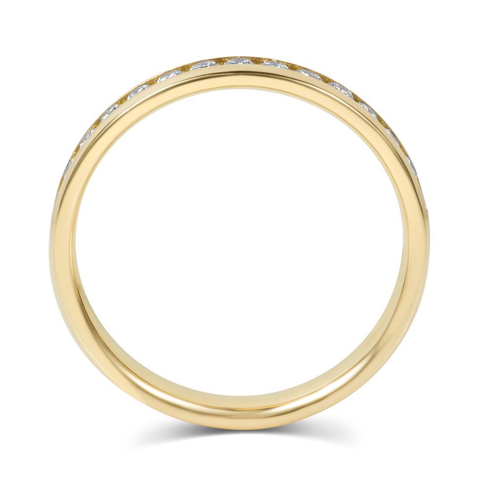 18ct Yellow Gold Diamond Half Eternity Ring 0.33ct Thumbnail Image 4