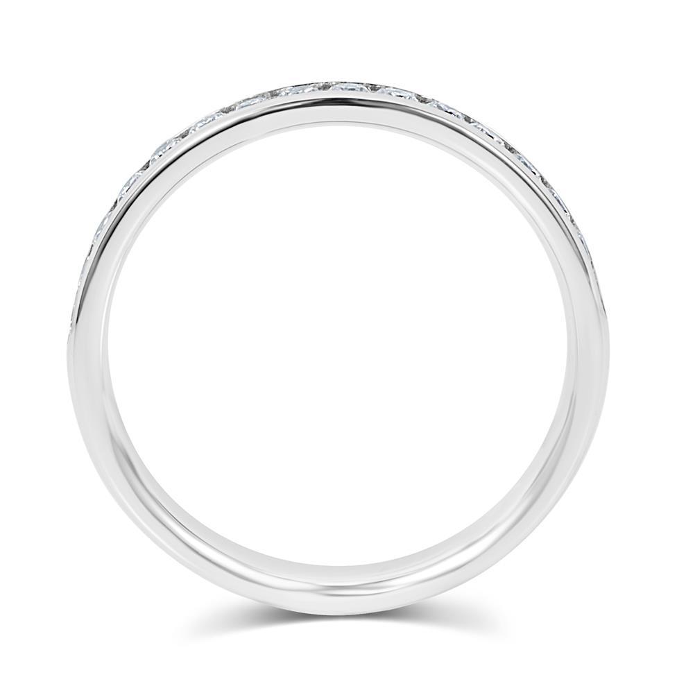Platinum Diamond Half Eternity Ring 0.22ct Thumbnail Image 4