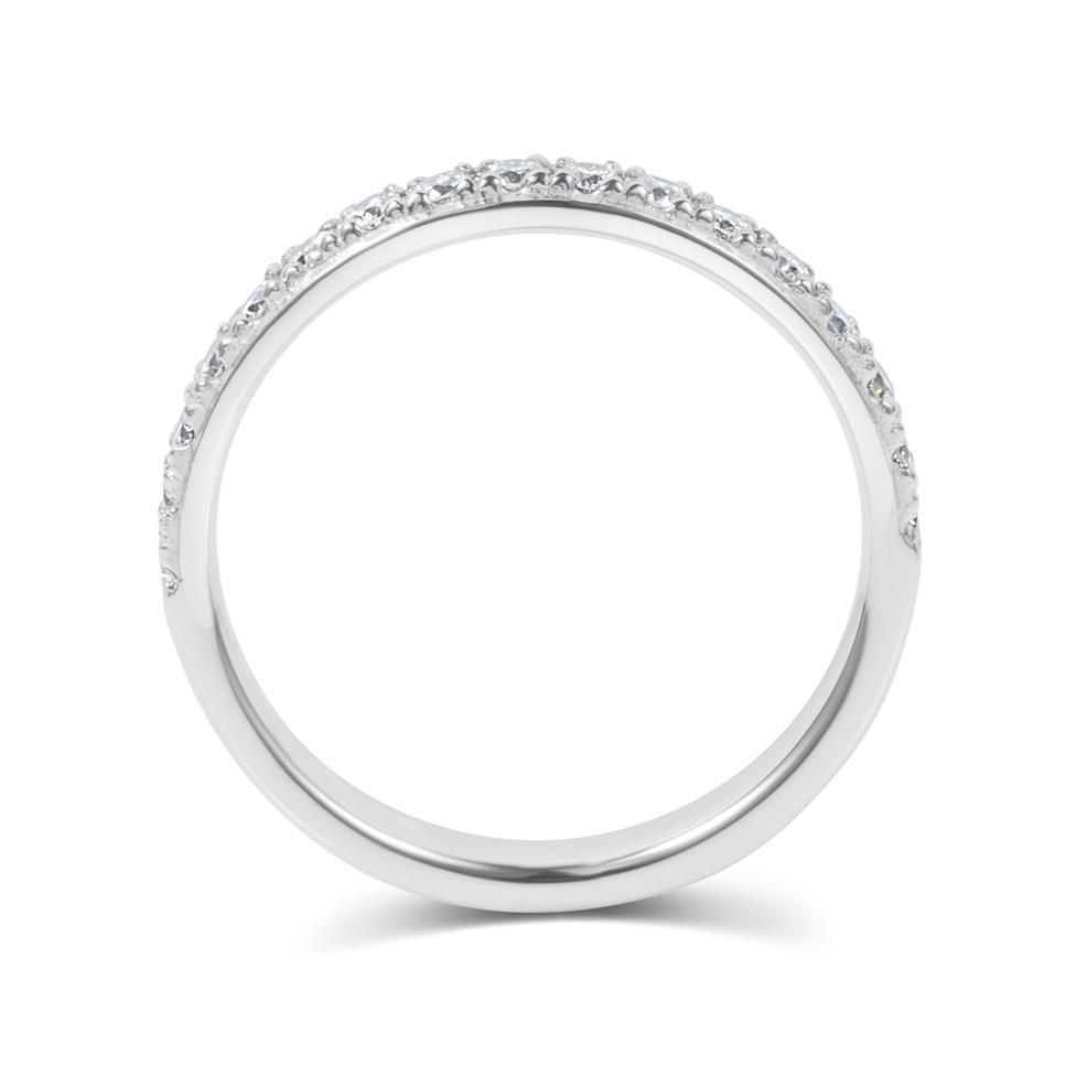 Platinum Diamond Half Eternity Ring 0.33ct Thumbnail Image 2