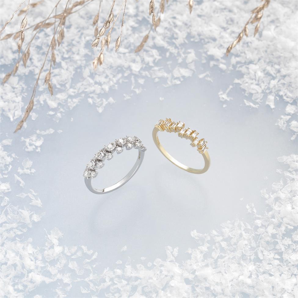 18ct White Gold Petal Design Diamond Dress Ring 0.50ct Thumbnail Image 4
