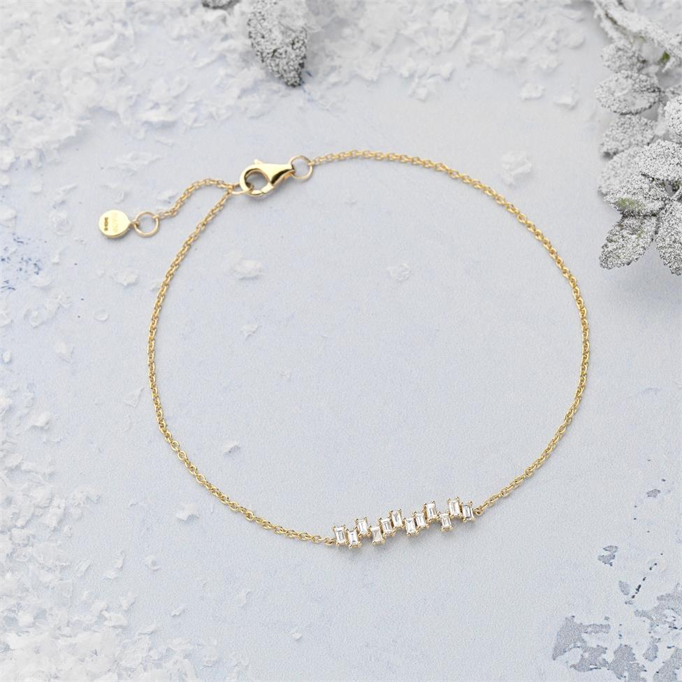 Stardust 18ct Yellow Gold Diamond Bracelet Thumbnail Image 1