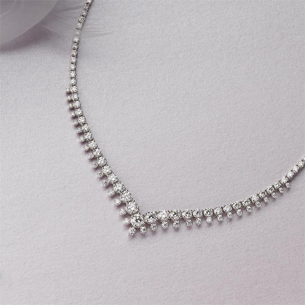 18ct White Gold Diamond Necklace 4.92ct Thumbnail Image 2