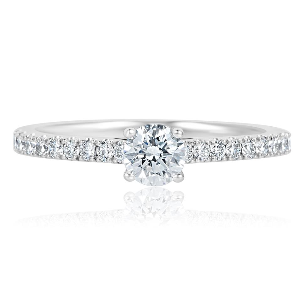 Platinum Diamond Solitaire Engagement Ring 0.65ct Thumbnail Image 1