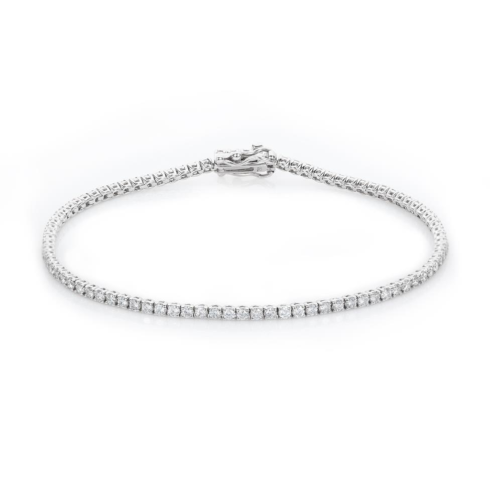 18ct White Gold Diamond Tennis Bracelet 2.00ct Thumbnail Image 0