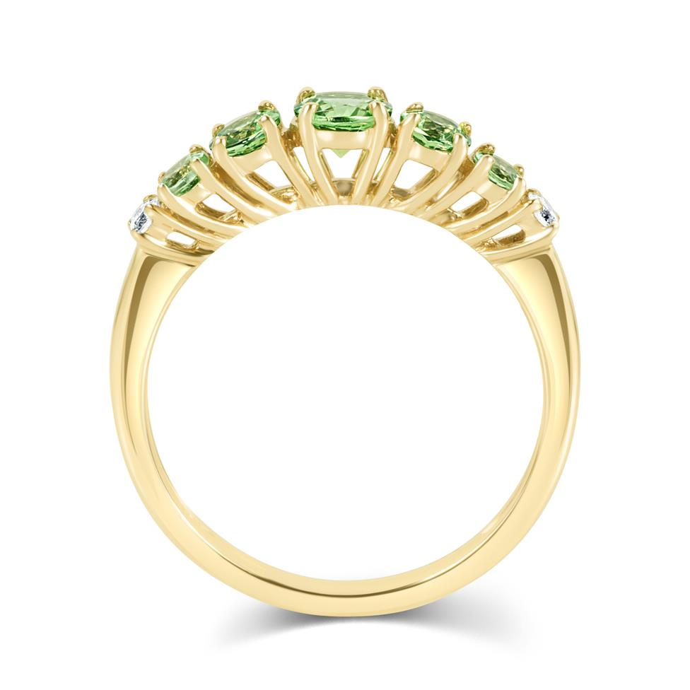 Bonbon 18ct Yellow Gold Tsavorite and Diamond Dress Ring Thumbnail Image 3