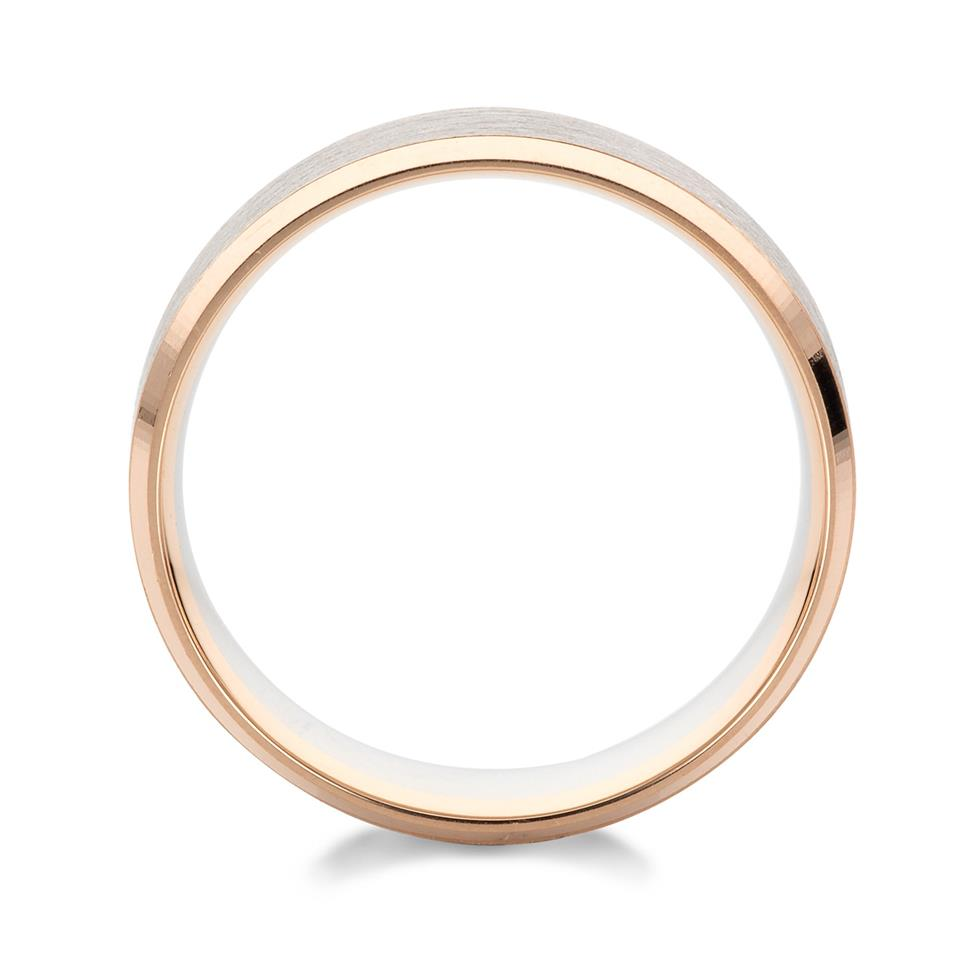 Palladium and 18ct Rose Gold Wedding Ring Thumbnail Image 1