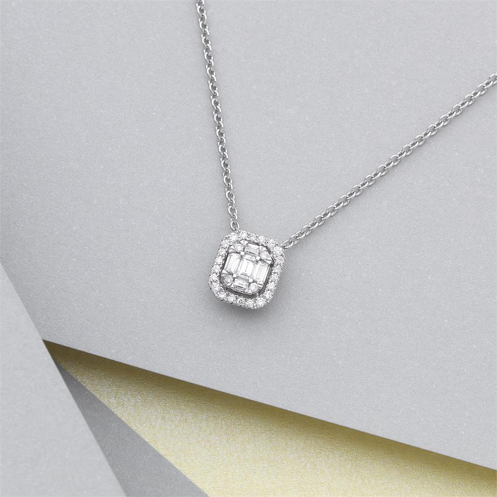 Odyssey 18ct White Gold Diamond Necklace 0.20ct Thumbnail Image 1