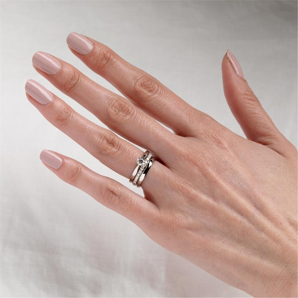 Platinum Classic Design Diamond Solitaire Engagement Ring 0.40ct Thumbnail Image 1