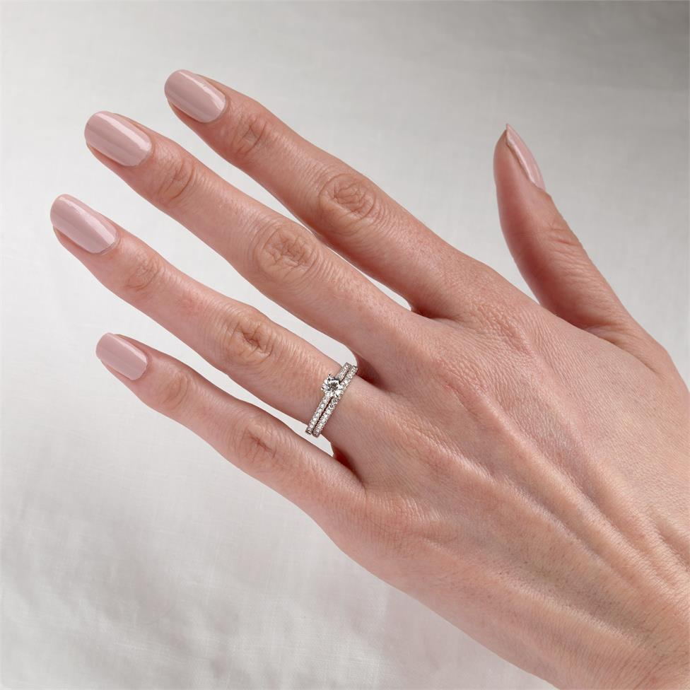 Platinum Diamond Solitaire Engagement Ring 0.60ct Thumbnail Image 1