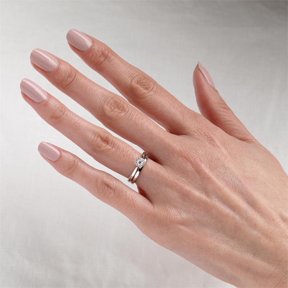 18ct White Gold Illusion Detail Diamond Cluster Engagement Ring 0.15ct Thumbnail Image 1