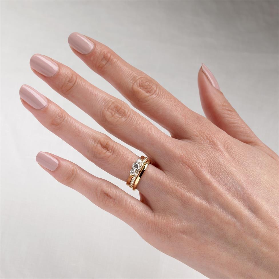 18ct Yellow Gold Diamond Three Stone Engagement Ring 0.50ct Thumbnail Image 1