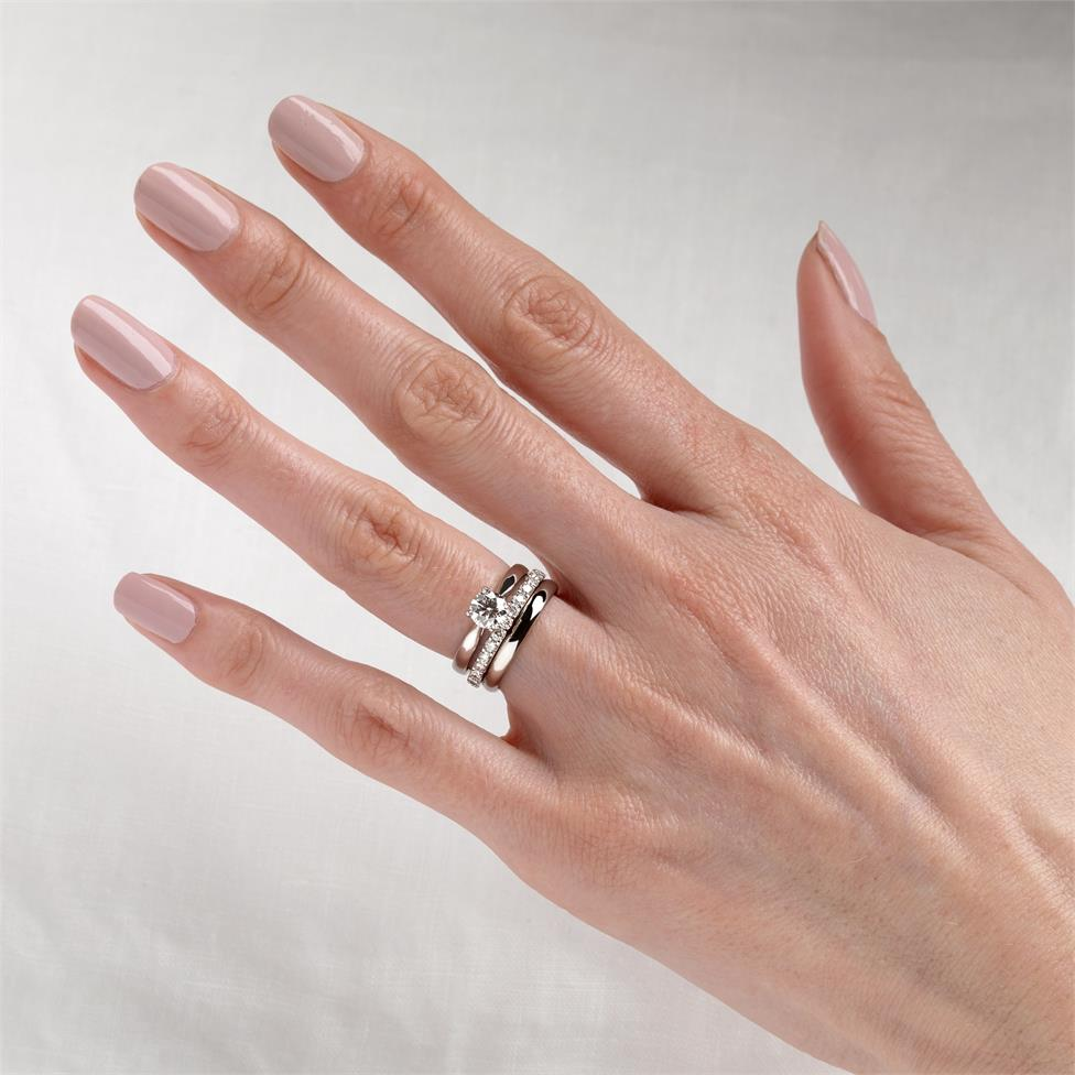 Platinum Classic Design Diamond Solitaire Engagement Ring 0.70ct Thumbnail Image 1