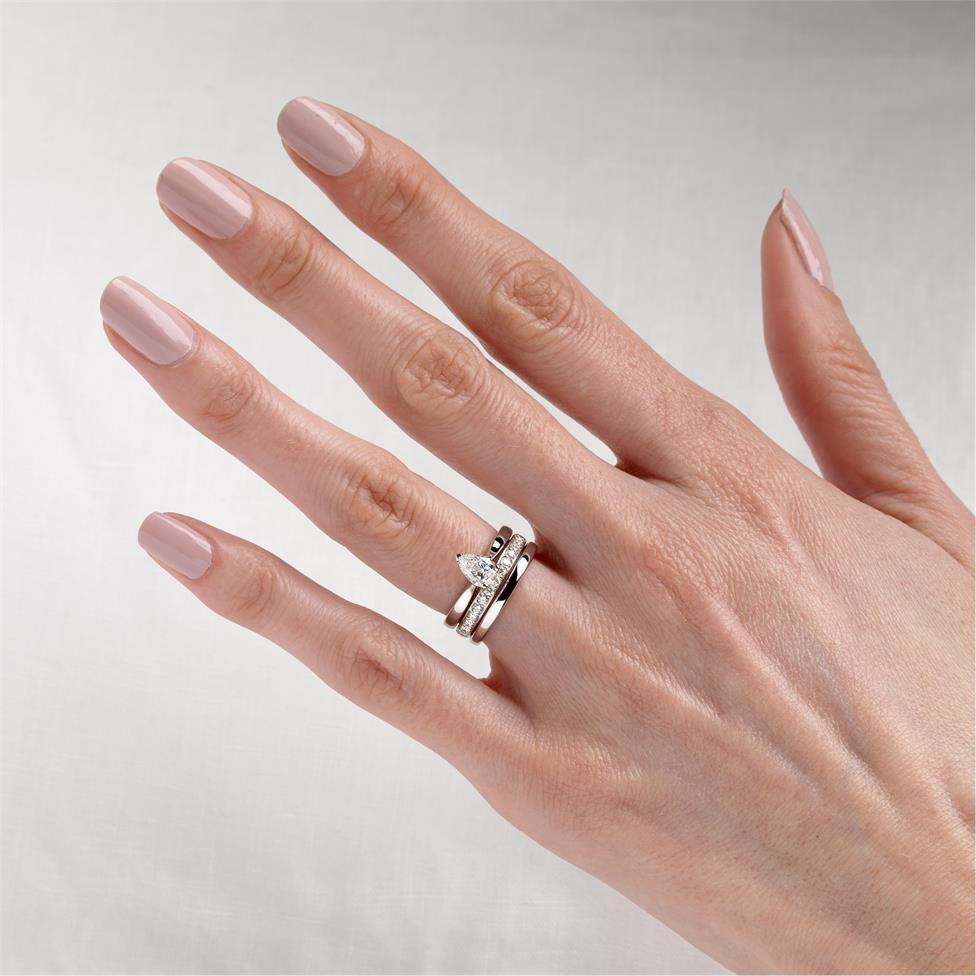 Platinum Diamond Pear Shape Solitaire Ring 0.70ct Thumbnail Image 1