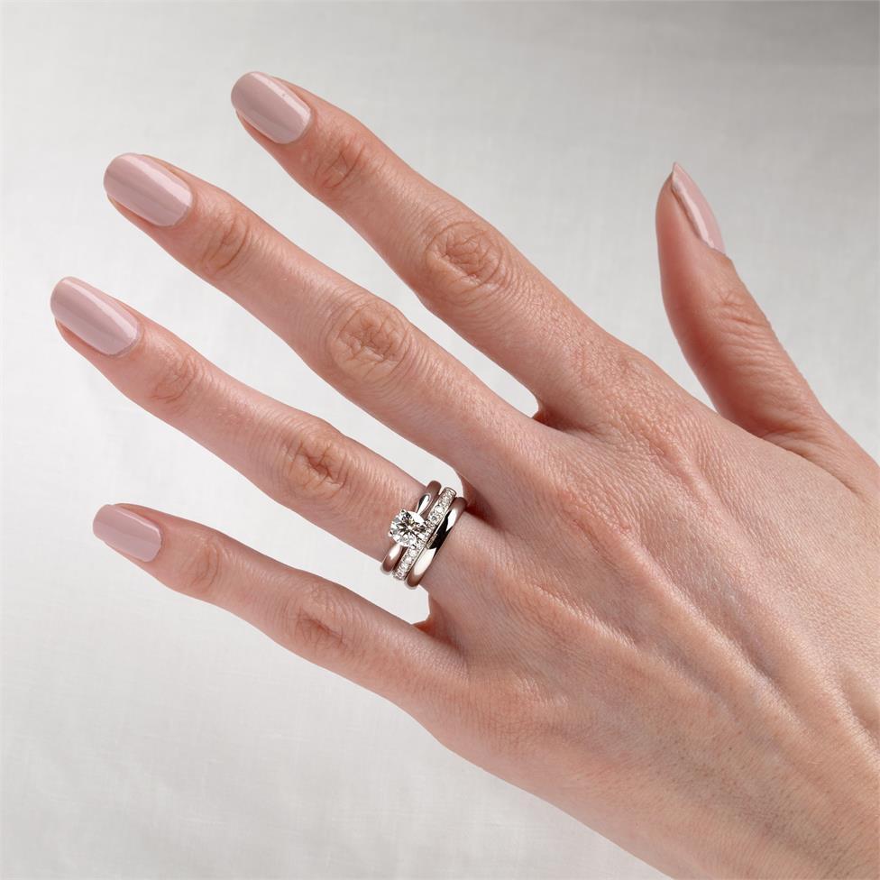 Platinum Classic Design Diamond Solitaire Engagement Ring 1.00ct Thumbnail Image 1