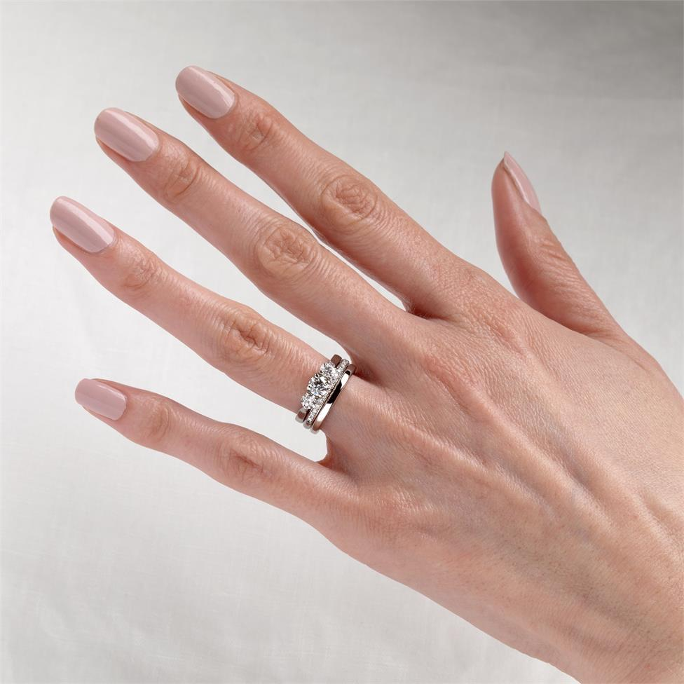 Platinum Diamond Half Eternity Ring 0.20ct Thumbnail Image 1