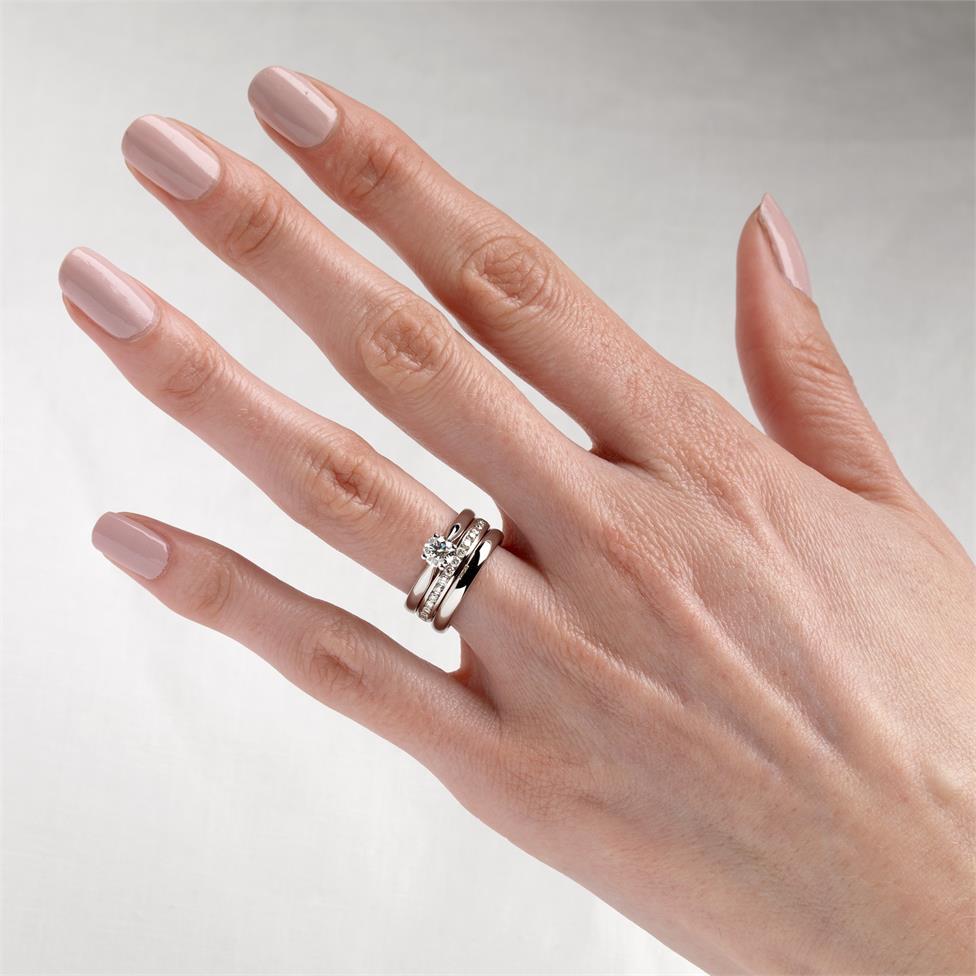 Platinum Diamond Half Eternity Ring 0.22ct Thumbnail Image 2