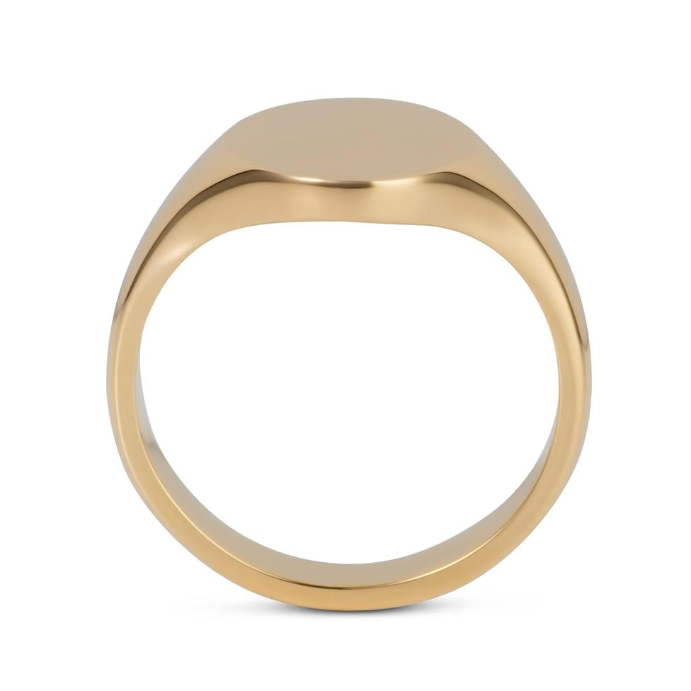 9ct Yellow Gold Small Oval Signet Ring  Thumbnail Image 2