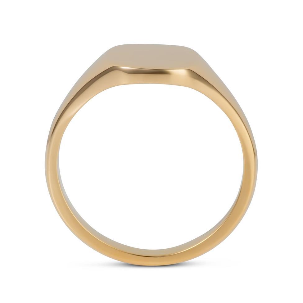 9ct Yellow Gold Cushion Signet Ring Thumbnail Image 2